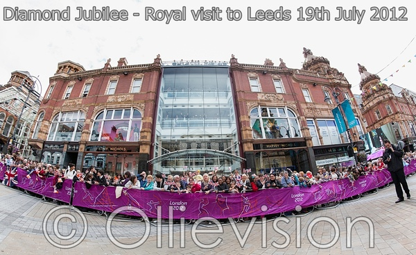 Briggate Leeds, commercial photographers Leeds, royal visit, Harvey Nichols