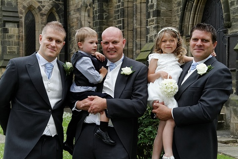 wedding photography in Leeds, Garforth, page boy, flower girl, best man, church wedding