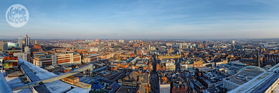 Leeds cityscape, the pinnacle panorama, art for sale in Leeds