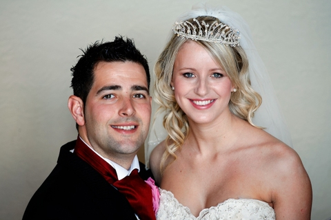 bride and groom at Welcombe Hotel Stratford, Menzies hotel group