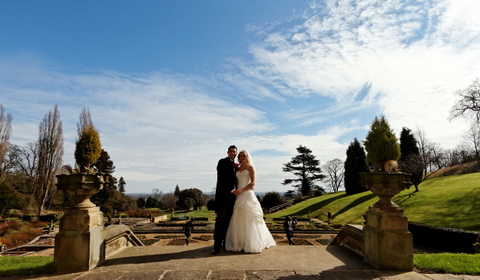 wedding photography at Menzies Welcombe hotel, Stratford, Midlands, bride and groom