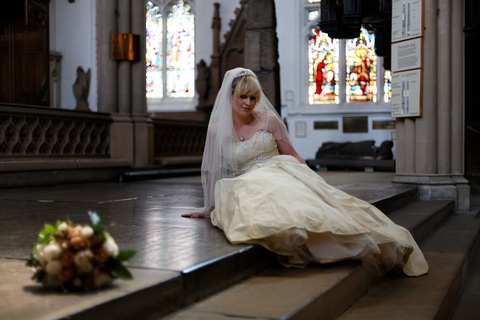 St Peter, Leeds Parish Church, Leeds cathedral, Yorkshire, England, grade 1 listed buildings, old churches, bride, wedding photos, flowers